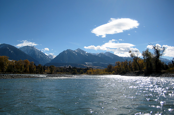 Paradise Valley of the Yellowstone River-Livingston, Montana