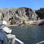 Canyon walls on the Lower Madison river.