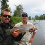 Cut-bow in Paradise Valley.  Yellowstone river, Montana