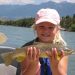 Ella with a nice Yellowstone river Brown trout