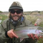 Fat Rainbow trout in southwest Montana